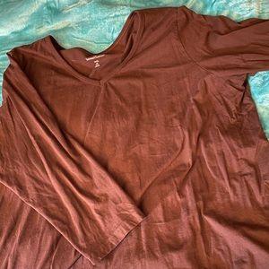 Brown long sleeve sweater